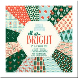 Papeles Scrapbooking All Is Bright (15x15)