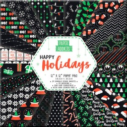 Papeles Scrapbooking Happy Holidays (30x30)