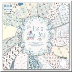 Papeles Scrapbooking It´s a Boy (30,5x30,5)