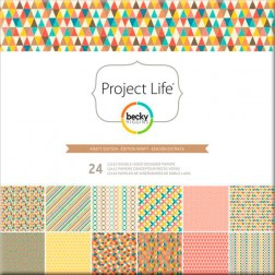 Papeles Scrapbooking Kraft Edition (30,2x30,5) - Project Life