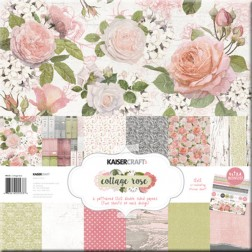 Set Papeles y Adhesivos Cottage Rose