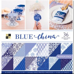 Papeles Scrapbooking Blue China (30x30)