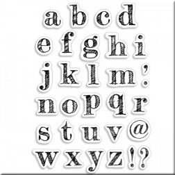 Set de sellos Design Lowercase Alphabet