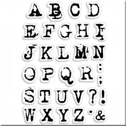 Set de sellos Reporter Uppercase Alphabet