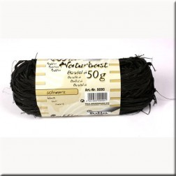 Rafia Natural color Negro (50grs)