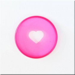 Create 365 Anillas para Planner Clear Hot Pink 3,17 cm