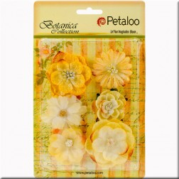 Flores de tela Amarillo Chantilly Petaloo
