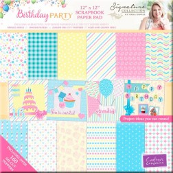 Papeles Scrap y Figuras Troqueladas Birthday Party (30x30)