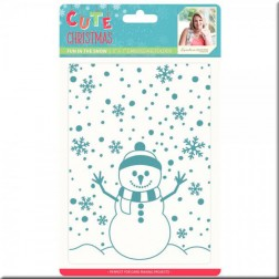 Carpeta Embossing Fun in the Snow Cute Christmas