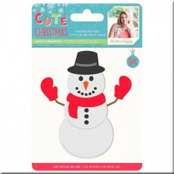 Troqueles Build-a-Snowman Cute Christmas
