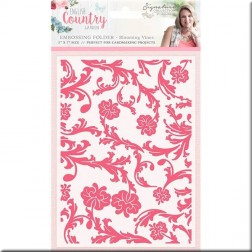 Carpeta Embossing Blooming VinesEnglish Country Garden
