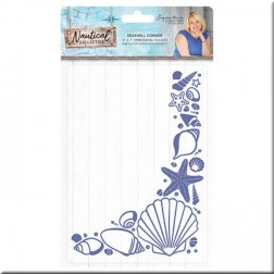 Carpeta Embossing Seashell Corner Nautical