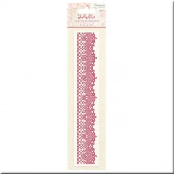 Carpeta Embossing Delicate Lace Border Shabby Chic