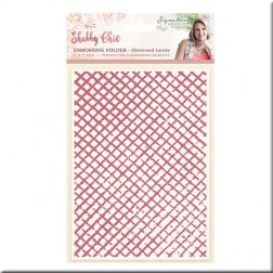 Carpeta Embossing Distressed Lattice Shabby Chic