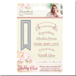 Set Sellos y Troqueles Cherished Memories Shabby Chic