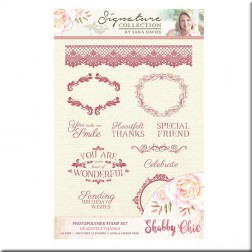 Sellos Heartfelt Thanks Shabby Chic