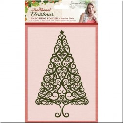 Carpeta Embossing Festive Tree Traditional Christmas