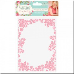 Carpeta Embossing Botanical Border Vintage Tea Party