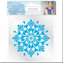Carpeta Embossing Graceful Snowflake Winter Wonderland