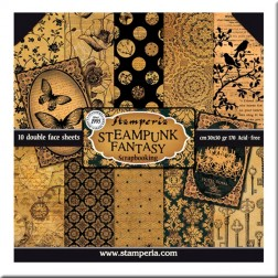 Papeles Scrap Steampunk Fantasy Stamperia (30x30)