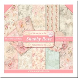 Papeles Scrap Shabby Rose Stamperia (30x30)