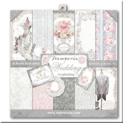Papeles Scrap Wedding Stamperia (30x30)