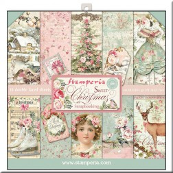 Papeles Scrap Sweet Christmas Stamperia (30x30)