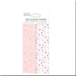 Papeles Decoupage Pink Ditsy
