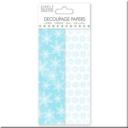 Papel Deco Maché Frosted Snowfalke