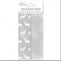 Papel Deco Maché Gray Stag