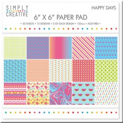 Papeles Scrapbooking Happy Days (15x15)