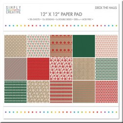 Papeles Scrapbooking Deck the Halls (30 x 30)