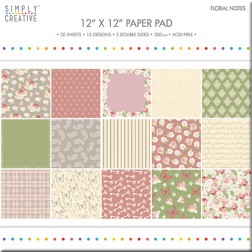Papeles Scrapbooking Floral Notes (30x30)