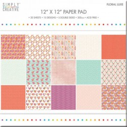 Papeles Scrapbooking Floral Luxe (30x30)