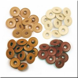 Remaches - Marron y Marfil (13 mm)