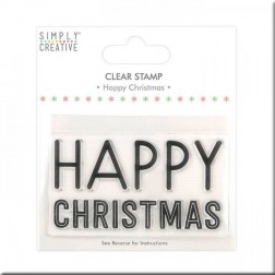 Sello Happy Christmas Large Simply Creative