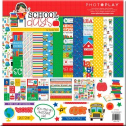 Set Papeles y Adhesivos School Days (30x30)
