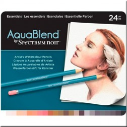Set 24 Lápices Acuarelables AquaBlend Spectrum Noir-Esenciales