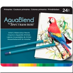 Set 24 Lápices Acuarelables AquaBlend Spectrum Noir- Primaries