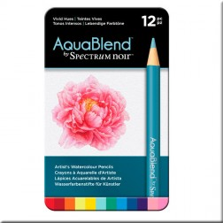 Set 12 Lápices Acuarelables AquaBlend Spectrum Noir Tonos Intensos