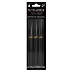 Set 3 Rotuladores Spectrum Noir Sparkle Crystal Clear con glitter