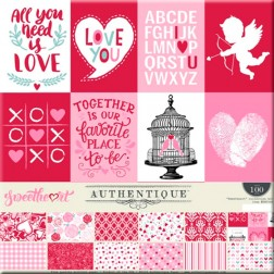 Papeles Scrap Authentique Sweetheart (30x30)