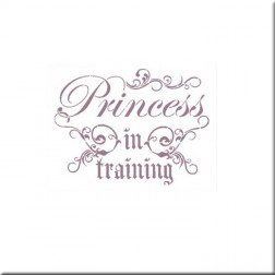 Plantilla estarcido Dayka Princess in training. (15 x 20 cm)
