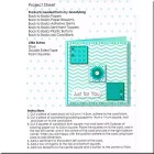 Set Goody Bag Back to Basics Teal - paso a paso